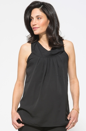 Picture of BLACK COWL NECK HALTER TOP