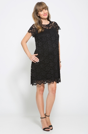 Picture of SHORT SLEEVE LACE DRESS