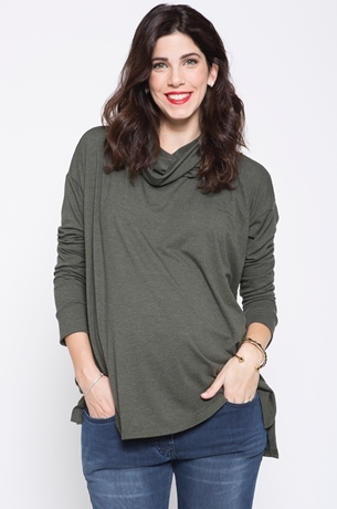 Picture of LIHI COWL TURTLENECK TOP