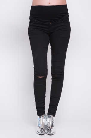 Picture of FRAYED KNEE SKINNY JEANS