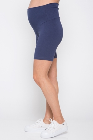 Picture of Short Maternity Leggings Blue