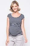 Picture of STRIPED BABY GROW TOP