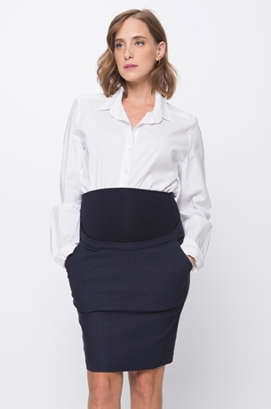 Picture of NARROW POCKET SKIRT NAVY