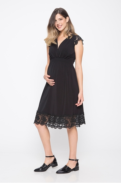 Picture of Empire Dress Short Sleeve Black