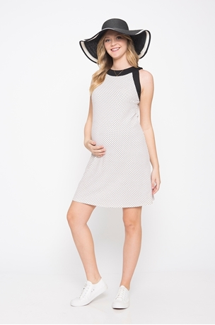 Picture of STAR PRINT HALTER DRESS