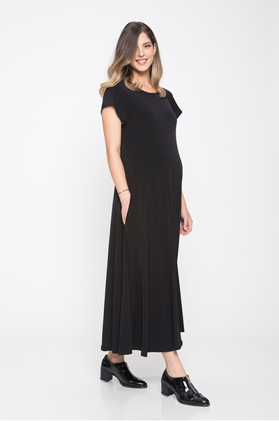 Picture of DORON BLACK MAXI DRESS