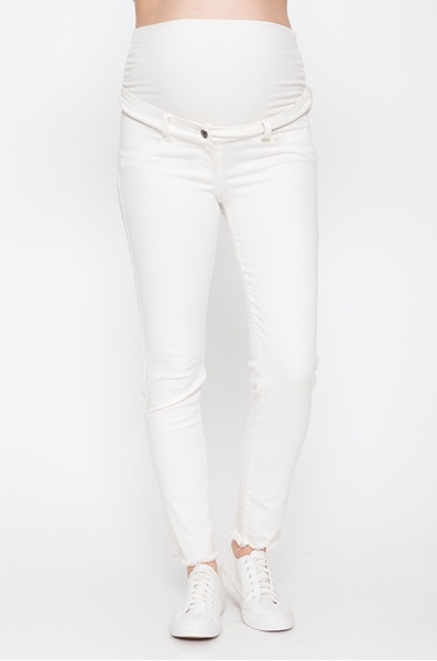 Picture of Frayed Super Skinny Jeans White