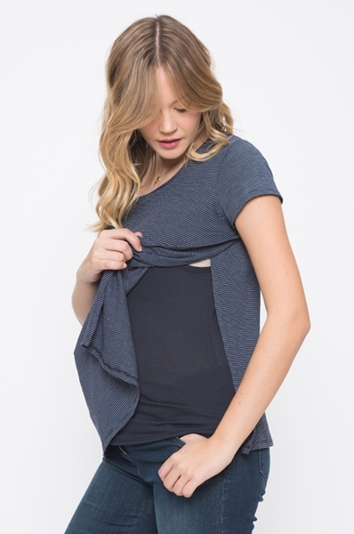 Picture of Layered Nursing Top Blue