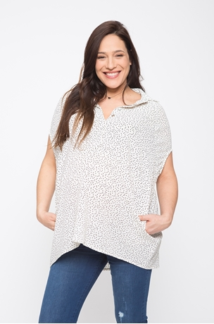 Picture of TEHILA OVERSIZED BUTTONED BLOUSE