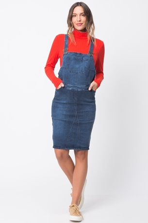 Picture of AMY OVERALL DENIM DRESS