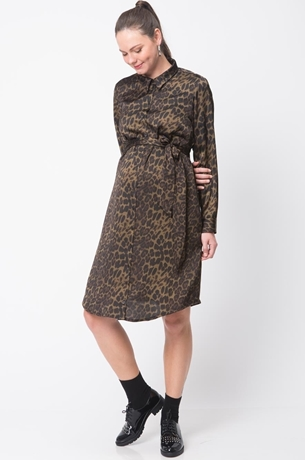 Picture of LEOPARD ACAPULCO SHIRTDRESS