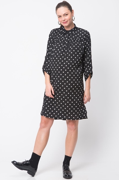 Picture of L. SLEEVE NURSING SHIRTDRESS