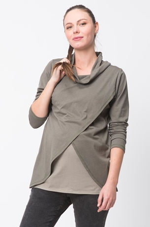 Picture of CROSSOVER LAYERED NURSING TOP