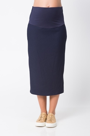Picture of DIVA MIDI RIBBED SKIRT