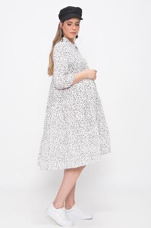 Picture of Star Print Ruffle Dress Cream