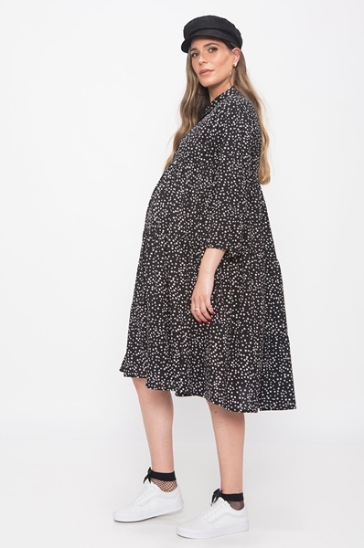 Picture of STAR PRINT RUFFLE DRESS