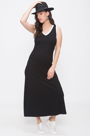 Picture of V MAXI DRESS