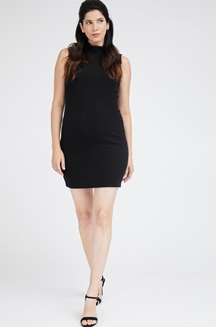 Picture of TURTLENECK LUREX SLEEVELESS DRESS