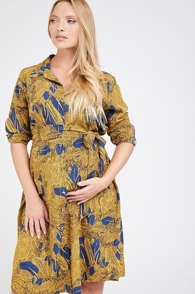 Picture of ROME SHIRTDRESS MUSTERED PRINT