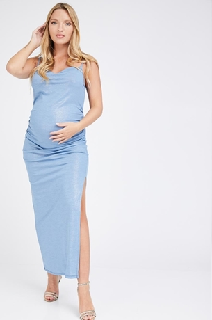 Picture of Samantha Dress Metallic Blue