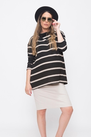 Picture of STRIPED RIBBED KNIT