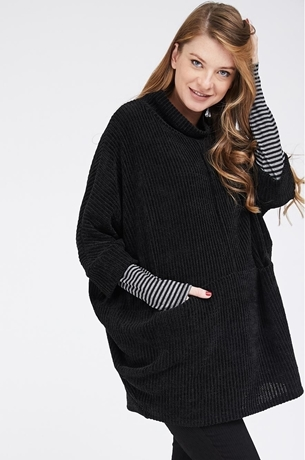 Picture of MANDY KNIT TOP BLACK