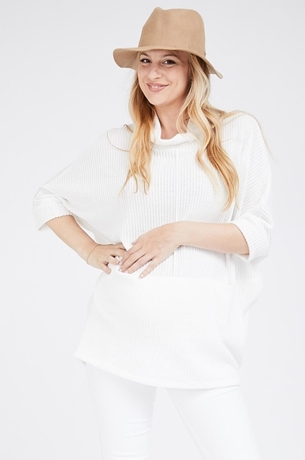 Picture of MANDY KNIT TOP WHITE