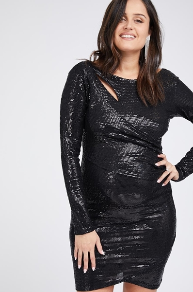 Picture of GLOW NOW DRESS BLACK