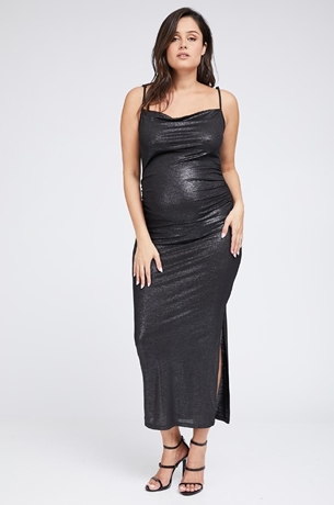 Picture of Samantha Dress Metallic Black