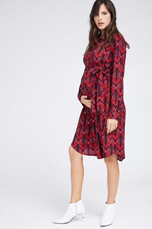 Picture of ROME SHIRTDRESS BLUE & RED