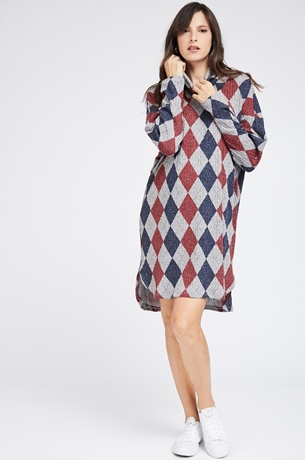 Picture of MARGO TUNIC RIBBED DIAMOND DRESS