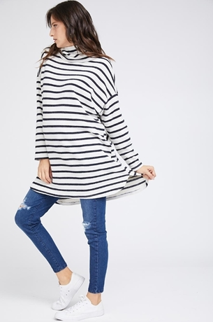 Picture of MARGO TUNIC RIBBED STRIPE DRESS
