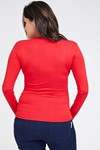 Picture of Cross-over Nursing Top L.sleeve Red