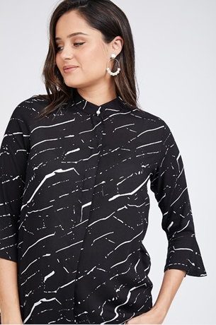 Picture of CAMI BLOUSE BLACK PRINT