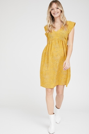 Picture of Sarai dress Mustered print