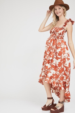 Picture of Kaia dress Orange print