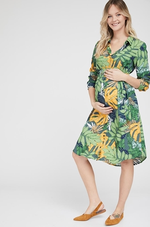 Picture of Rome shirt-dress Green floral