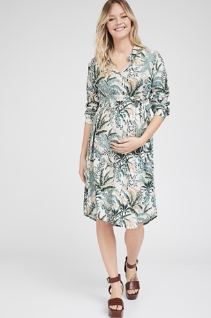 Picture of Rome shirt-dress Beige print