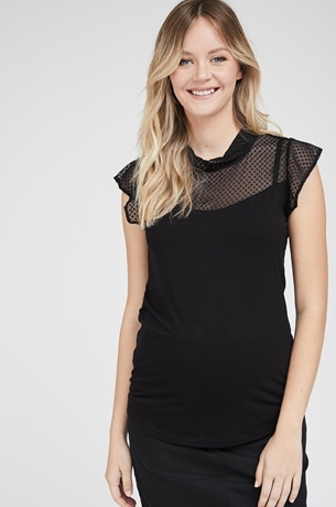 Picture of Festive Lace Top Black
