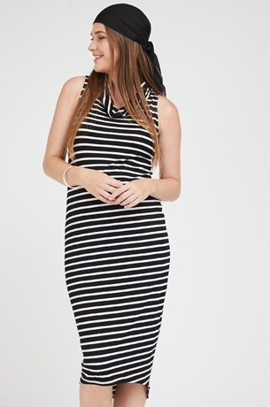 Picture of Gal Maxi Dress Black and White