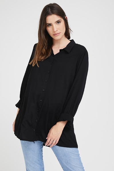 Picture of Resort Button Down Shirt Black