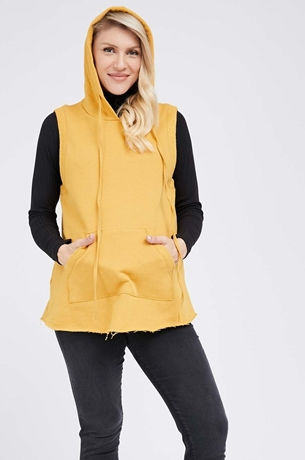 Picture of Hoodie Vest Mustard