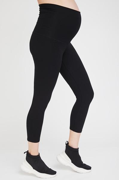 Picture of Basic 3/4 Maternity Leggings Black
