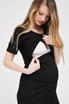 Picture of Lily Nursing Dress Black