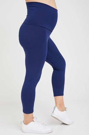 Picture of Basic 3/4 Maternity Leggings Blue