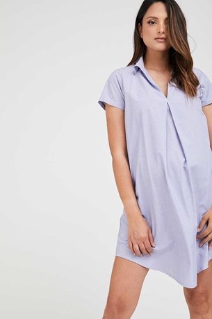 Picture of Maggie Maternity Shift Dress Stripes Blue