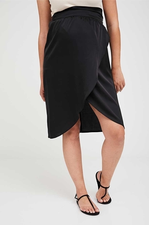 Picture of Wrap Matenity Skirt Black