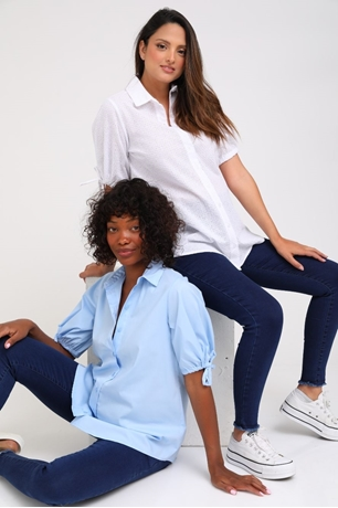 Picture of Veronica Button Down Maternity Blouse