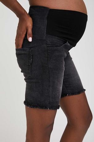Picture of Olivia High Rise Denim Shorts Black